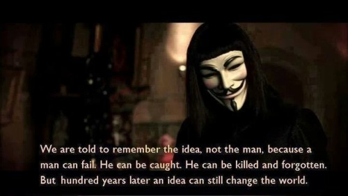 4 V for Vendetta quotes