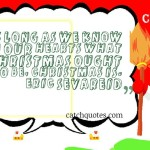 As long as we know in our hearts what Christmas ought to be, Christmas is