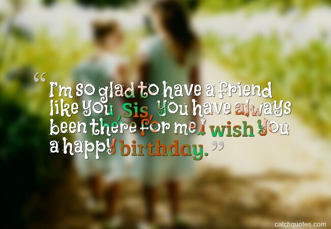 1 birthday wishes for sister