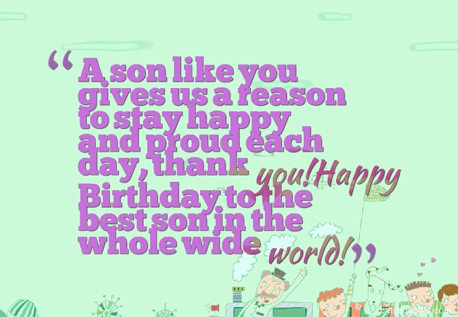 12 birthday wishes for son