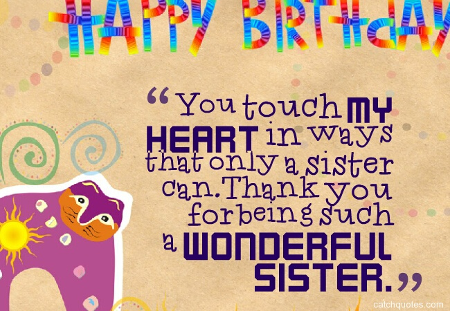 14 birthday wishes for sister