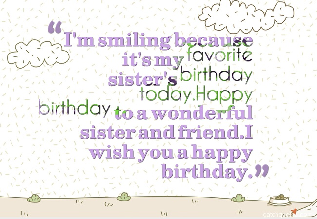 22 birthday wishes for sister