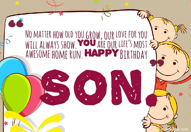 4 birthday wishes for son