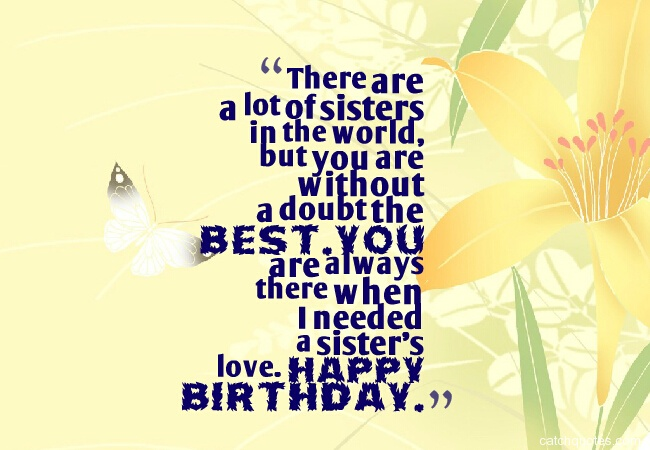 44 birthday wishes for sister