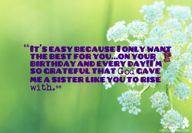 48 birthday wishes for sister