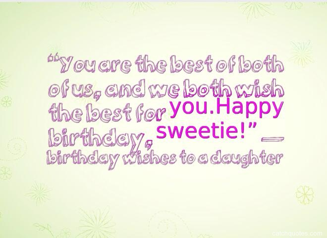 birthday wishes for daughter 5