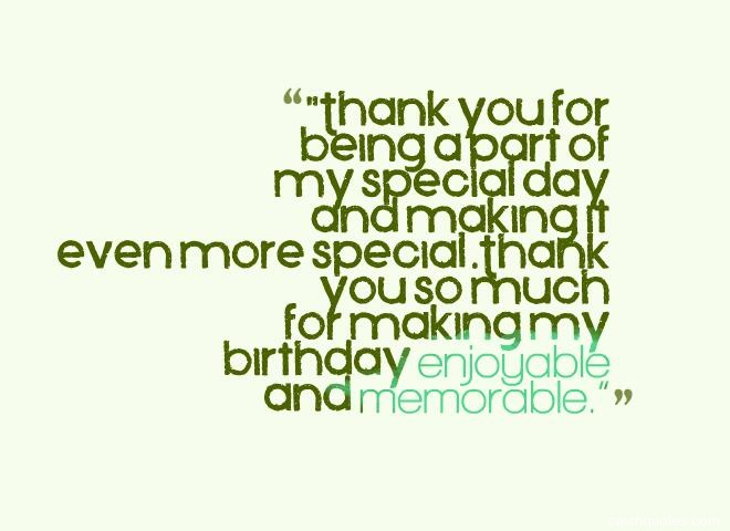 Thank you quotes for birthday party