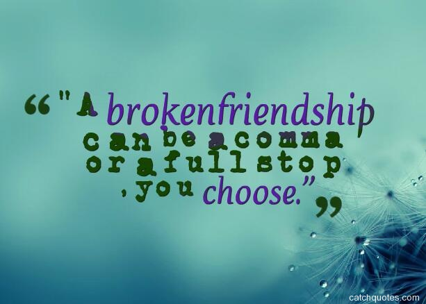 One Line Quotes On Broken Friendship : Best broken friendship quotes with images about losing