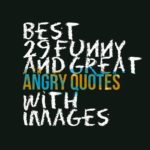 Best 29 funny and great angry quotes with images