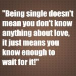 Being single doesn't mean you don't know anything about love