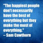 The happiest people don't necessarily have the best