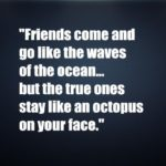 Friends come and go like the waves of the ocean